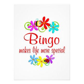 O Bingo é especial Convites