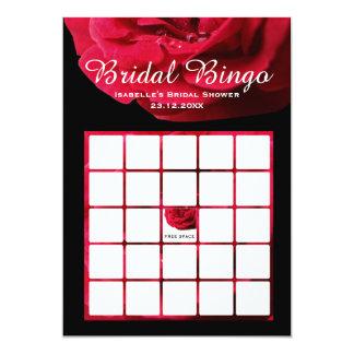 O Bingo nupcial aumentou Convite 12.7 X 17.78cm