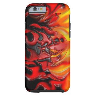 O bio perigo arde o iPhone 6 resistente Capa Tough Para iPhone 6