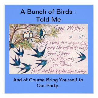 O Birds of a Feather convida junto Convites Personalizado