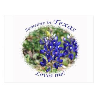"""O Bluebonnet """"alguém em Texas ama-me"""" cartão"""