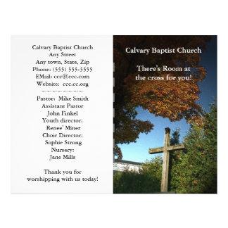 O boletim da igreja personaliza panfletos personalizado