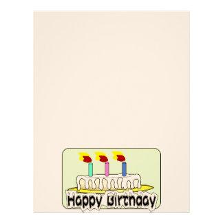 O bolo dos balões da festa de aniversário Candles Modelos De Papel De Carta