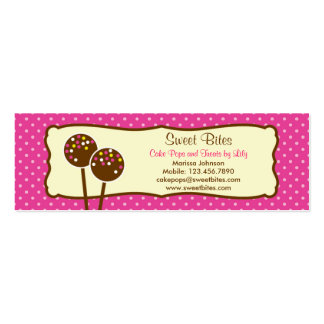 O bolo estala o Tag/cartão de visita da padaria Cartão De Visita Skinny