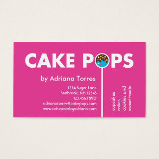 O bolo moderno estala o cartão de visita