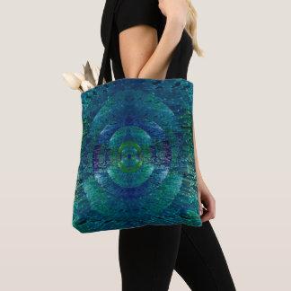 O bolsa abstrato azul e verde bonito do pavão