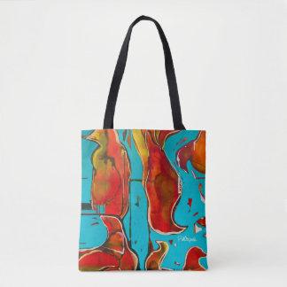 O bolsa abstrato brilhante