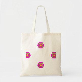 O bolsa abstrato cor-de-rosa da flor