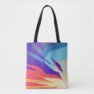 O bolsa abstrato do impressão do por do sol toda