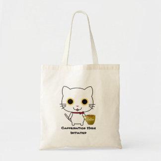 O bolsa alto da cafeína do gato