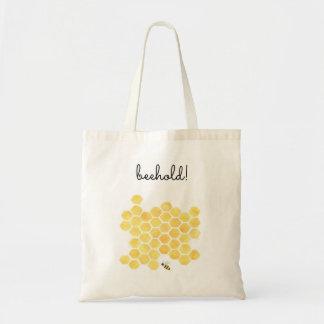 O bolsa amarelo das canvas de pintura da abelha