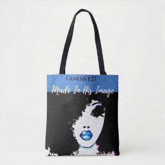 O bolsa azul, branco & preto do 1:27 da génese