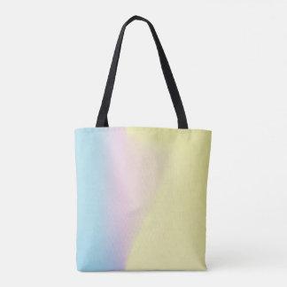 O bolsa azul, cor-de-rosa, amarelo do inclinação
