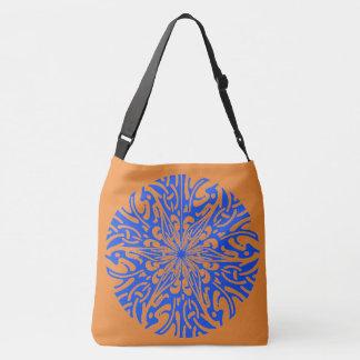 O bolsa azul de Brown do teste padrão