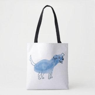 O bolsa azul do cão