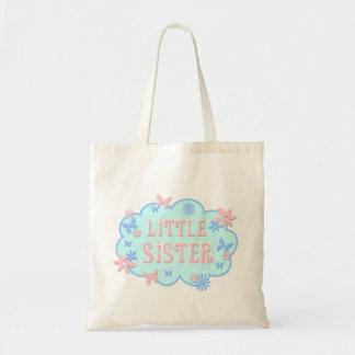 O bolsa azul do design da borboleta da flor da irm