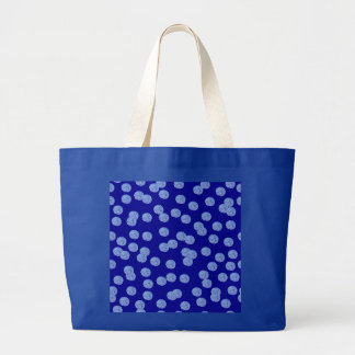 O bolsa azul do jumbo das bolinhas