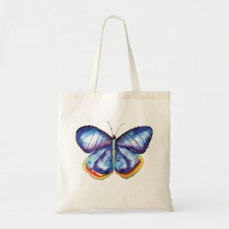 O bolsa azul do orçamento da arte da borboleta da
