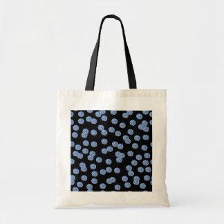 O bolsa azul do orçamento das bolinhas