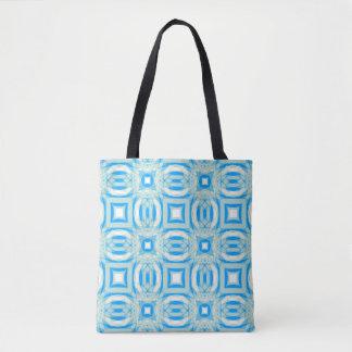 O bolsa azul e branco do teste padrão do