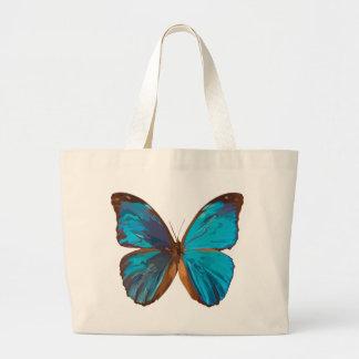 O bolsa azul iridescente do jumbo da borboleta