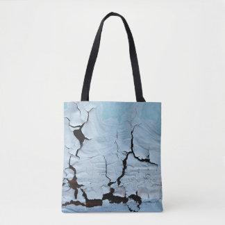 O bolsa azul rachado minimalista da pintura