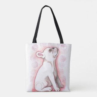 O bolsa bonito cor-de-rosa bonito do buldogue