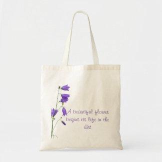 O bolsa bonito das citações da flor do Bluebell
