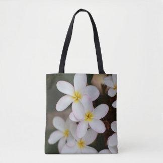O bolsa branco e amarelo do Plumeria