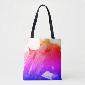 O bolsa - cavalo e azul do arco-íris