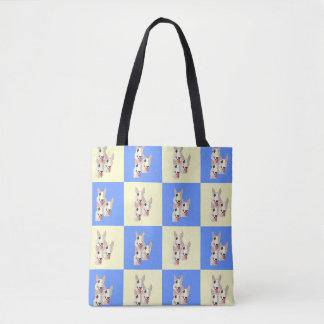 O bolsa Checkered de bull terrier