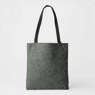 O bolsa cinzento verde-oliva do teste padrão