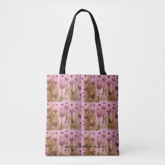 O bolsa com a aguarela pintado à mão de flores