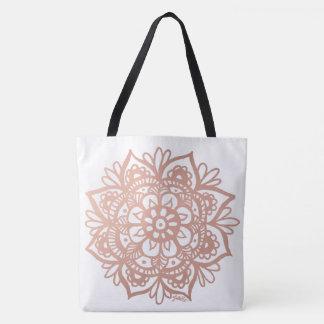 O bolsa cor-de-rosa da mandala do ouro