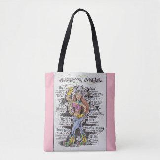 O bolsa cor-de-rosa da vaqueira
