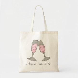 O bolsa cor-de-rosa do chá de panela da data do