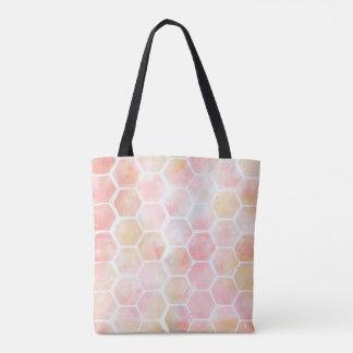 O bolsa cor-de-rosa do favo de mel