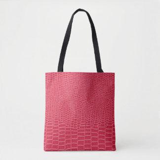 O bolsa cor-de-rosa do impressão do crocodilo