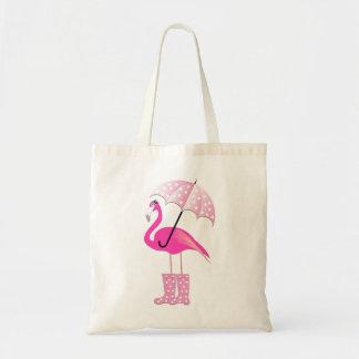 O bolsa cor-de-rosa do orçamento do flamingo