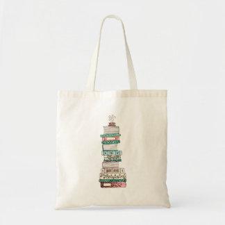 O bolsa cor-de-rosa e azul de Bookstack