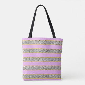 O bolsa cor-de-rosa e Dotty da listra do ouro