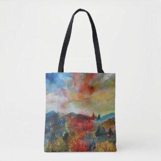 O bolsa da aguarela do outono