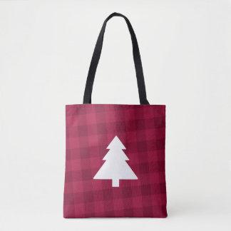 O bolsa da árvore de Natal da xadrez do búfalo