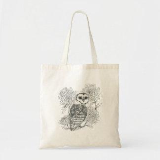 o bolsa da coruja de celeiro e da tinta do vintage