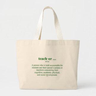 O bolsa da definição do professor
