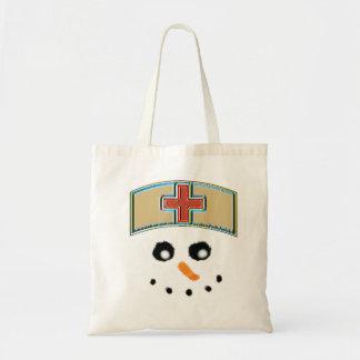 O bolsa da enfermeira do boneco de neve