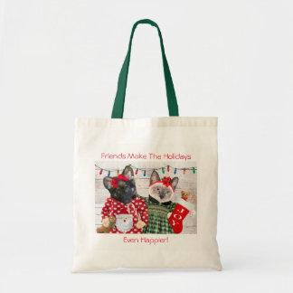 O bolsa da festa natalícia do gatinho