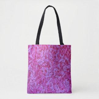 O bolsa da fita do rosa da consciência do cancro