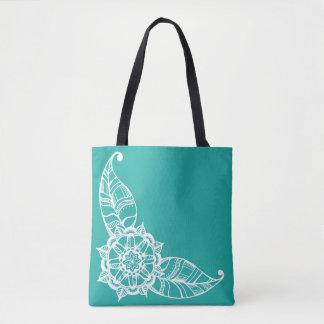 O bolsa da flor da mandala na cerceta clara