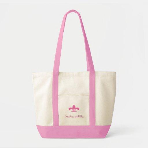 O bolsa da flor de lis cor-de-rosa de Fleur, de Sa